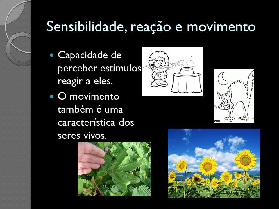 Sensibilidade, reação e movimento