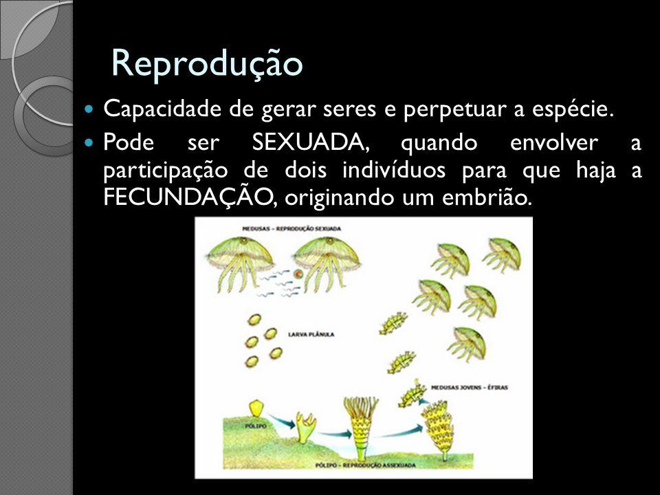 Reprodução Capacidade de gerar seres e perpetuar a espécie.