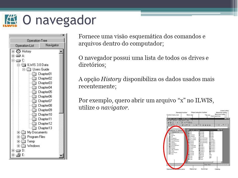 O navegador Fornece uma visão esquemática dos comandos e arquivos dentro do computador;