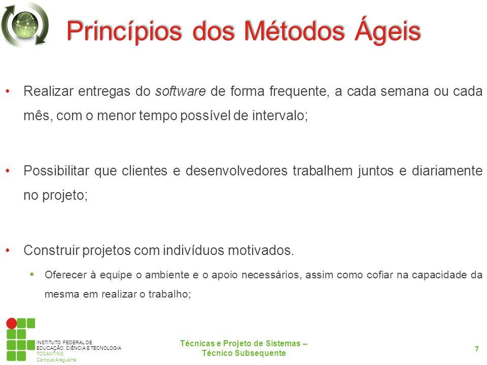 Princípios dos Métodos Ágeis