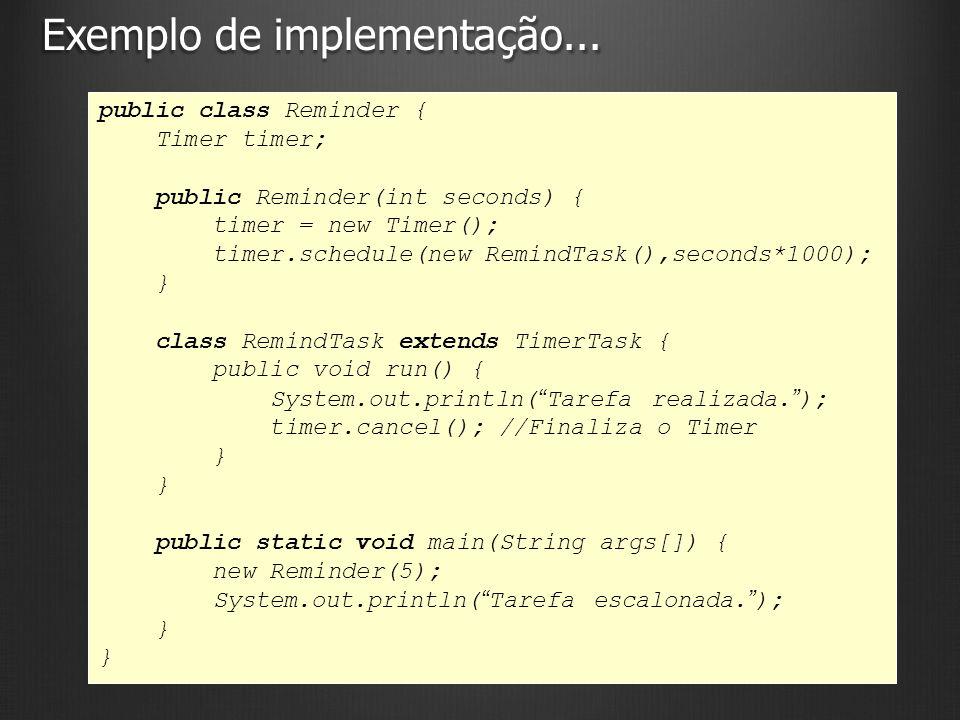 Exemplo de implementação...