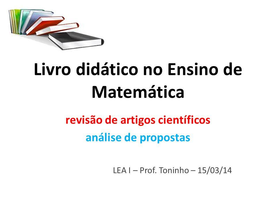 Livro didático no Ensino de Matemática