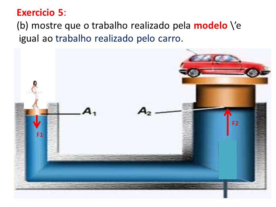 (b) mostre que o trabalho realizado pela modelo \'e