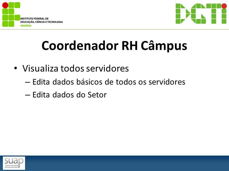 Coordenador RH Câmpus Visualiza todos servidores