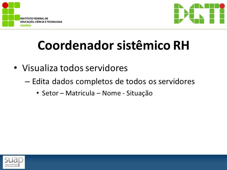 Coordenador sistêmico RH