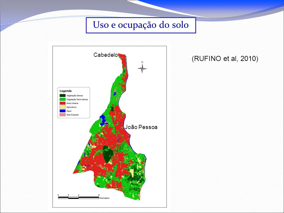 Uso e ocupação do solo Cabedelo (RUFINO et al, 2010) João Pessoa