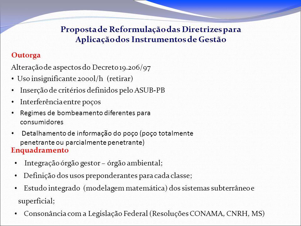 Proposta de Reformulação das Diretrizes para