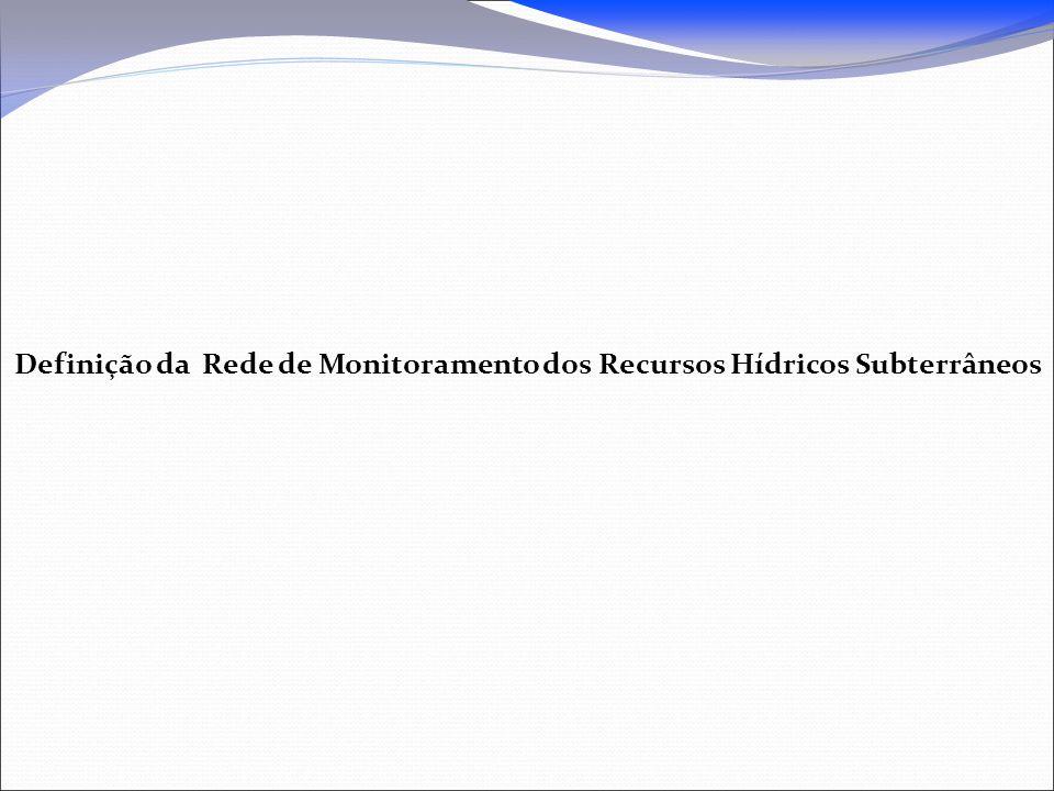 Definição da Rede de Monitoramento dos Recursos Hídricos Subterrâneos