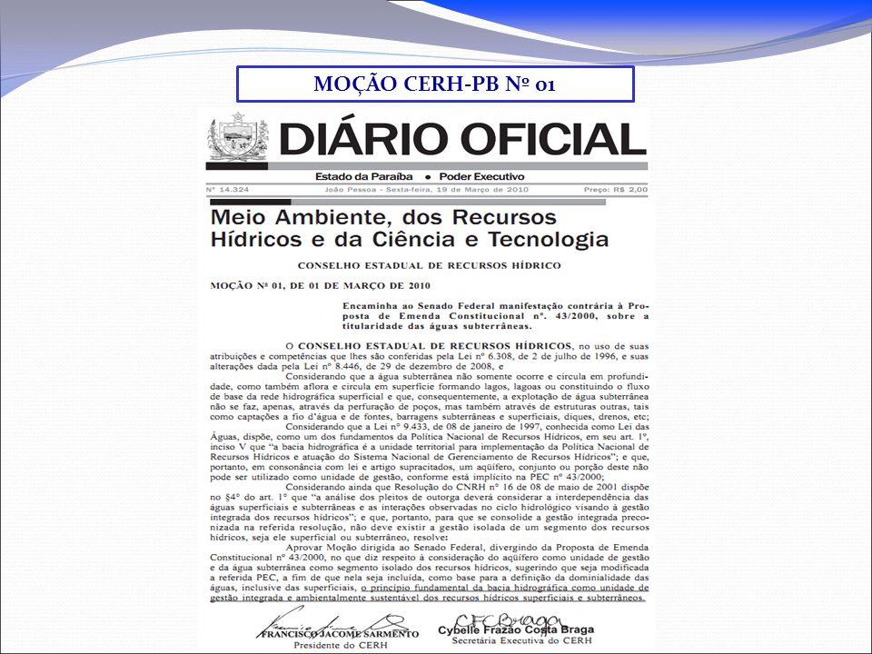 MOÇÃO CERH-PB Nº 01