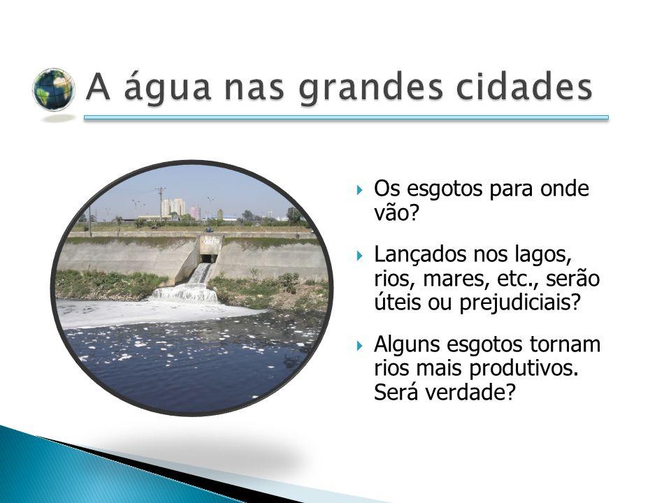 A água nas grandes cidades