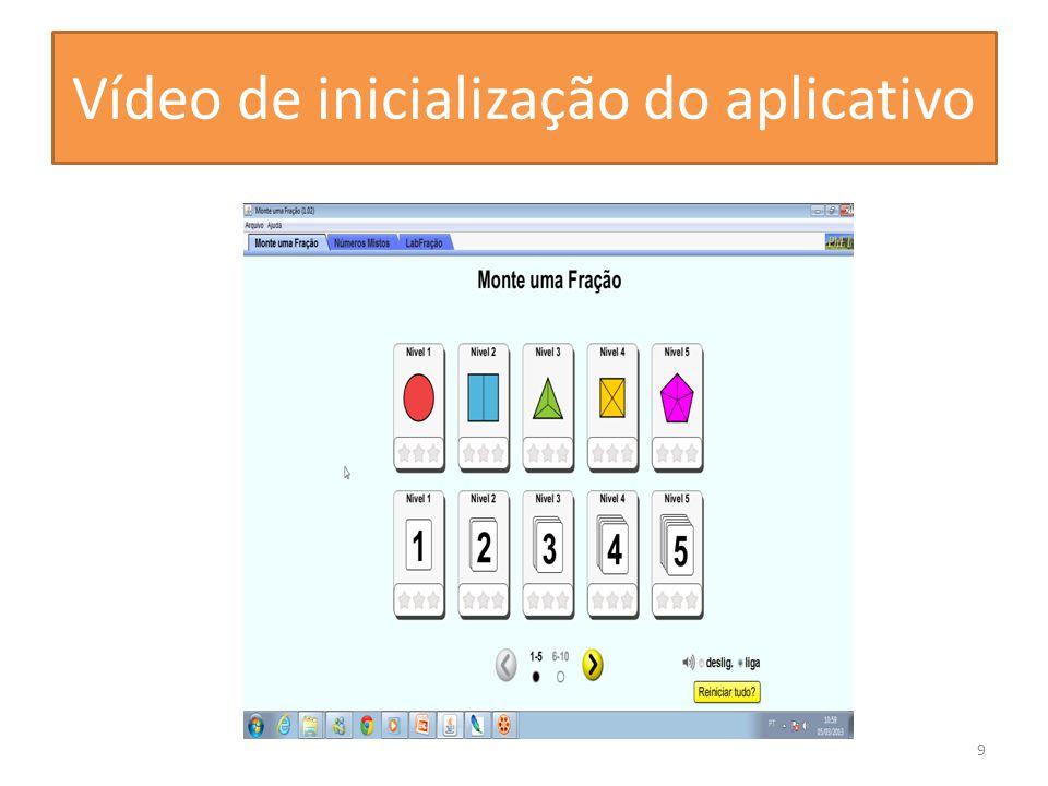 Vídeo de inicialização do aplicativo
