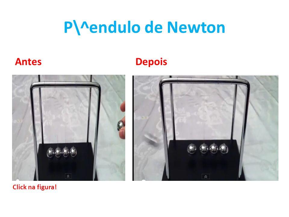 P\^endulo de Newton Antes Depois Click na figura!