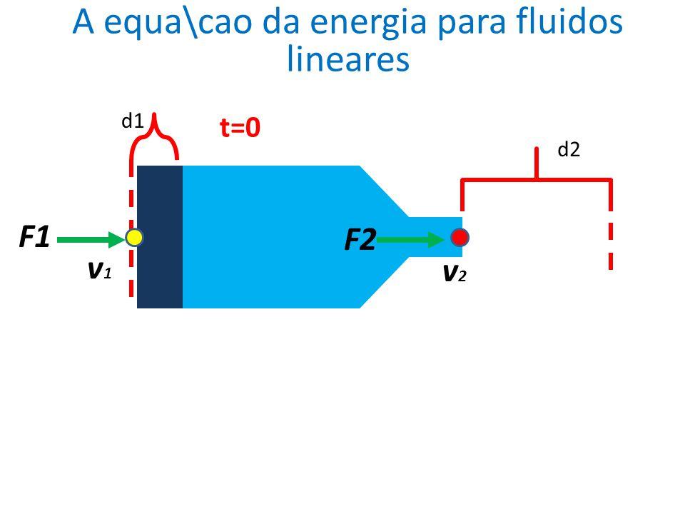 A equa\cao da energia para fluidos lineares