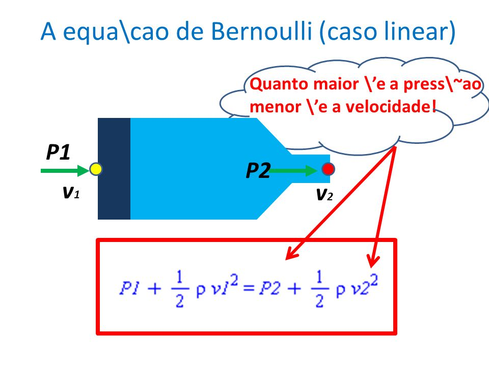 A equa\cao de Bernoulli (caso linear)