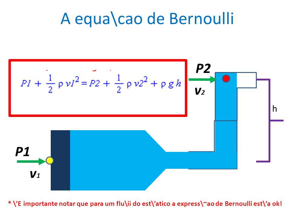 A equa\cao de Bernoulli