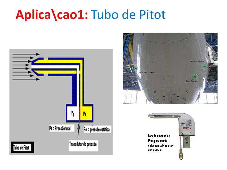 Aplica\cao1: Tubo de Pitot