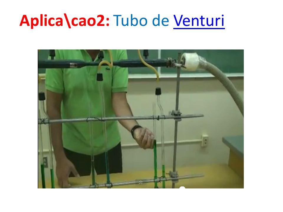 Aplica\cao2: Tubo de Venturi