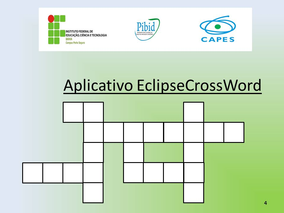 Aplicativo EclipseCrossWord