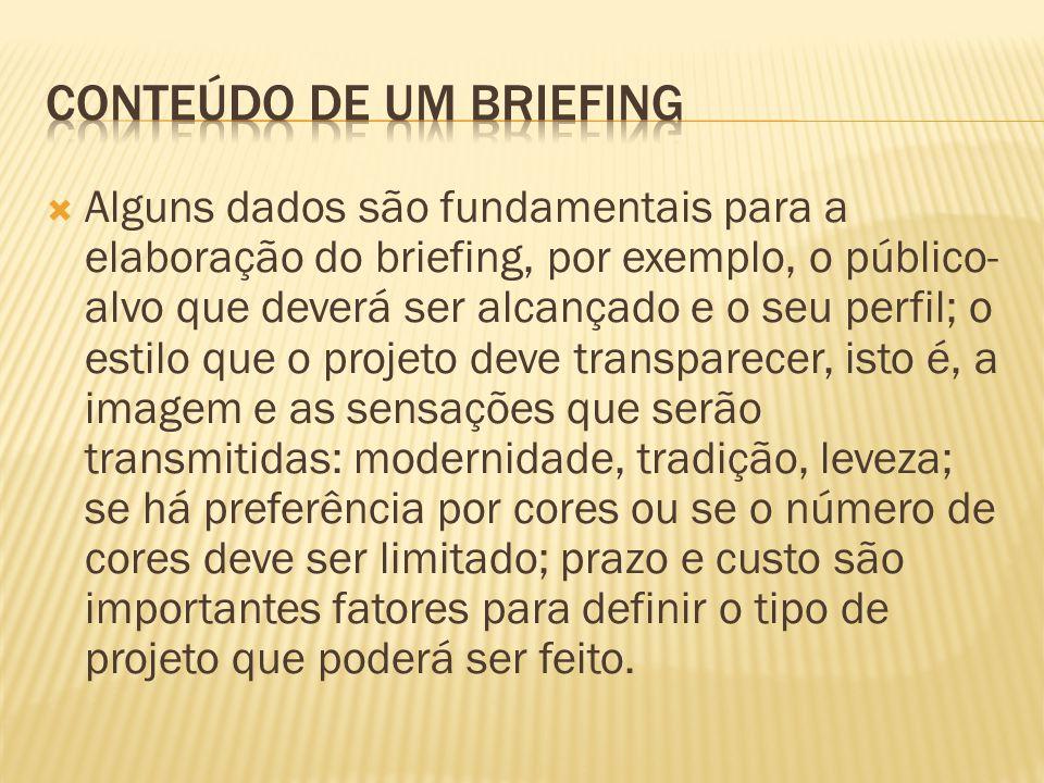 Conteúdo de um briefing