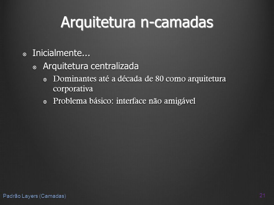 Arquitetura n-camadas