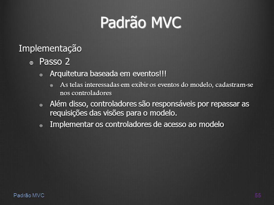 Padrão MVC Implementação Passo 2 Arquitetura baseada em eventos!!!