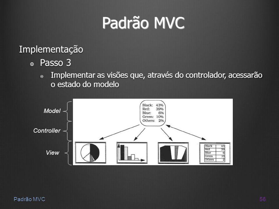 Padrão MVC Implementação Passo 3