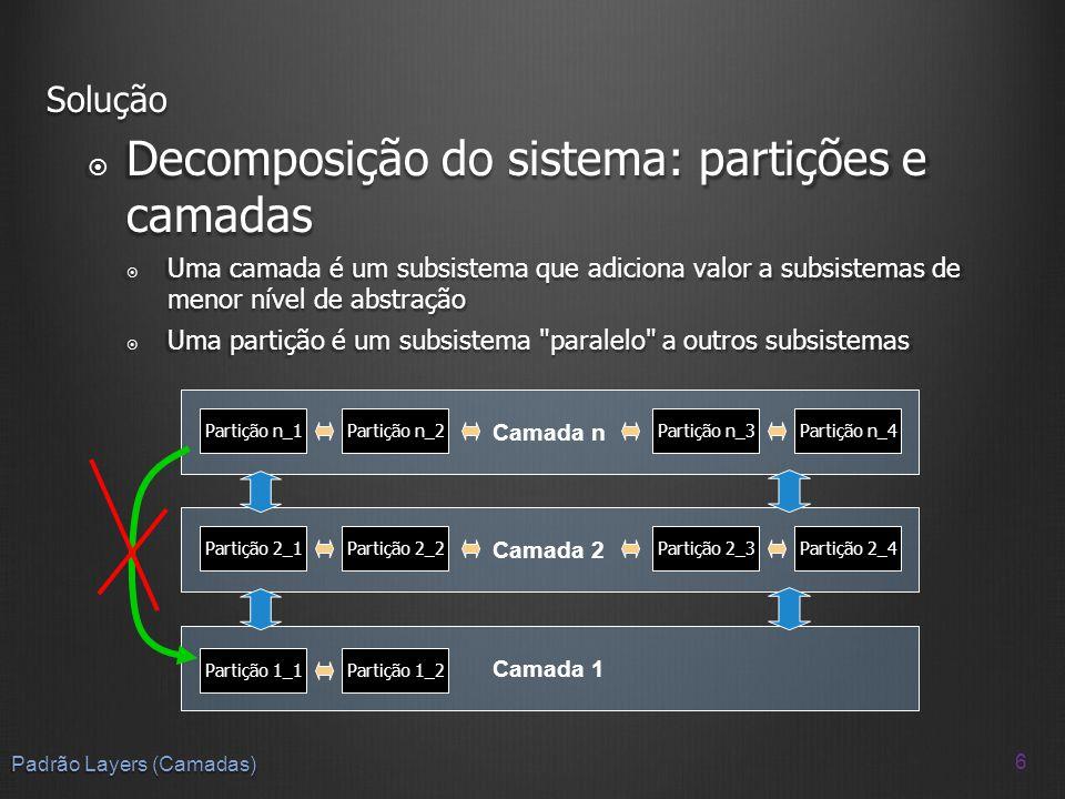 Decomposição do sistema: partições e camadas