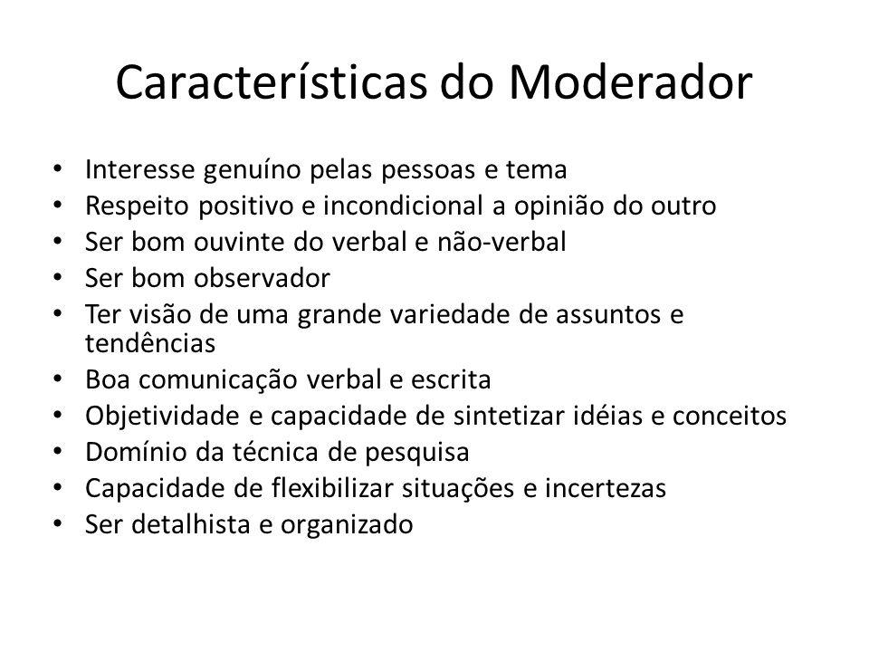 Características do Moderador