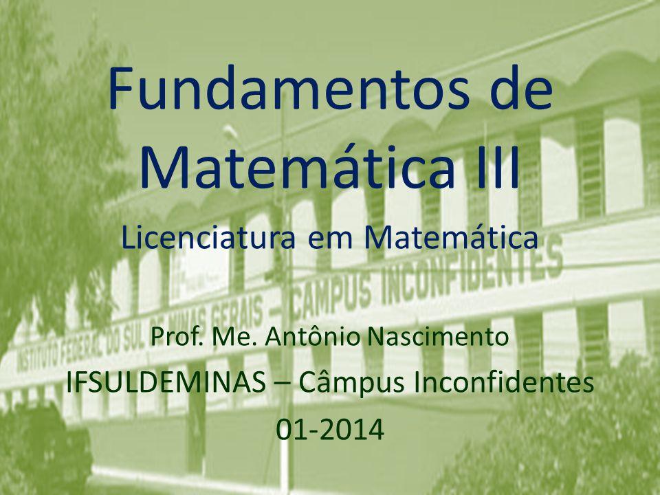 Fundamentos de Matemática III