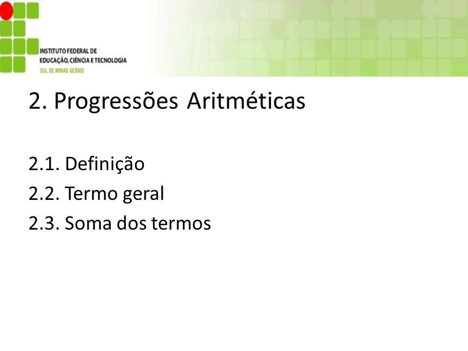 2. Progressões Aritméticas