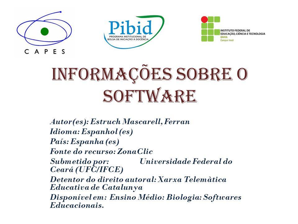 Informações sobre o software