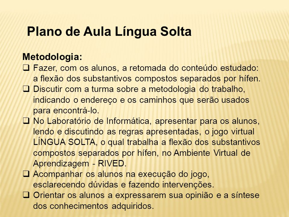 Plano de Aula Língua Solta