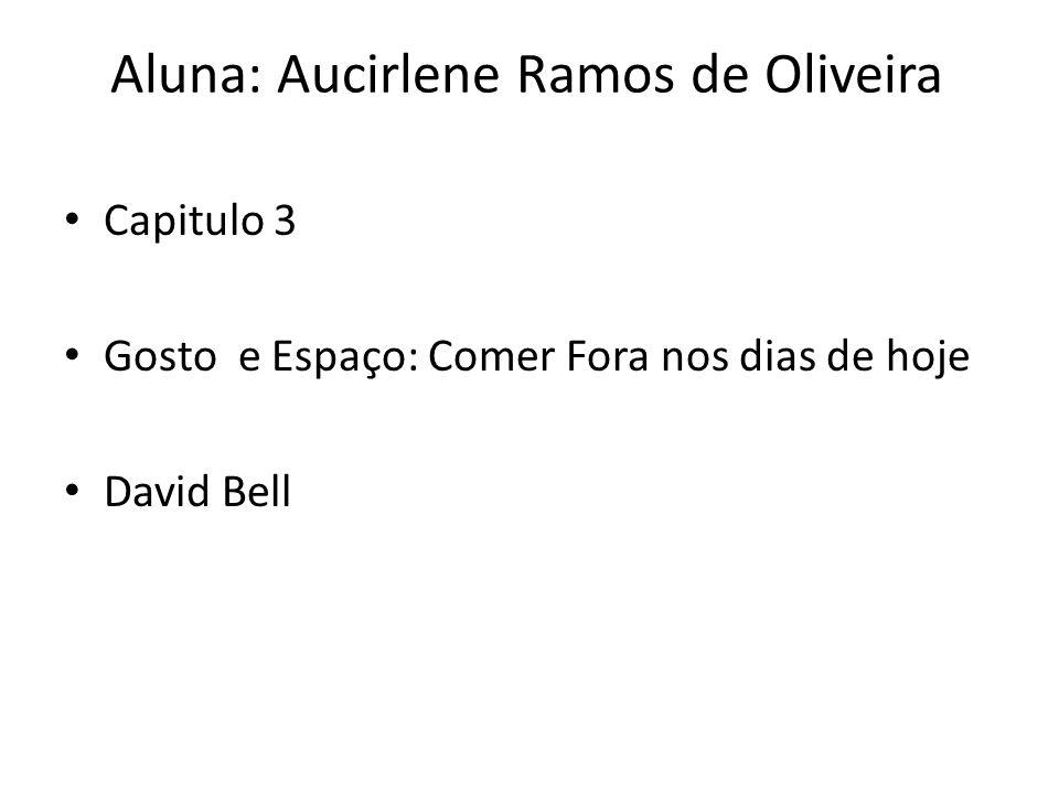 Aluna: Aucirlene Ramos de Oliveira