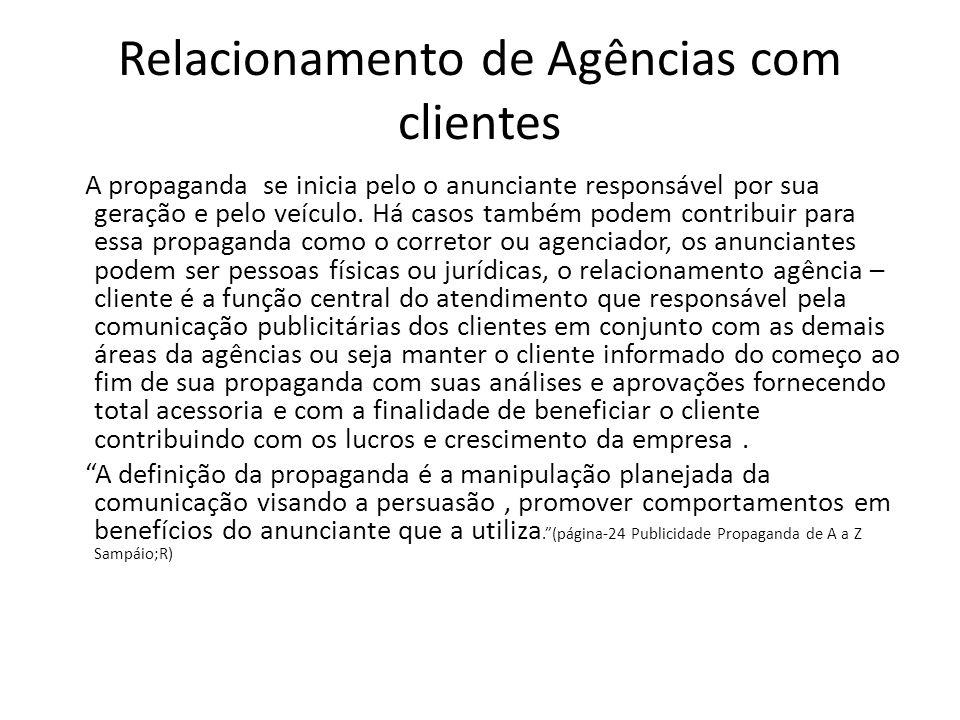 Relacionamento de Agências com clientes