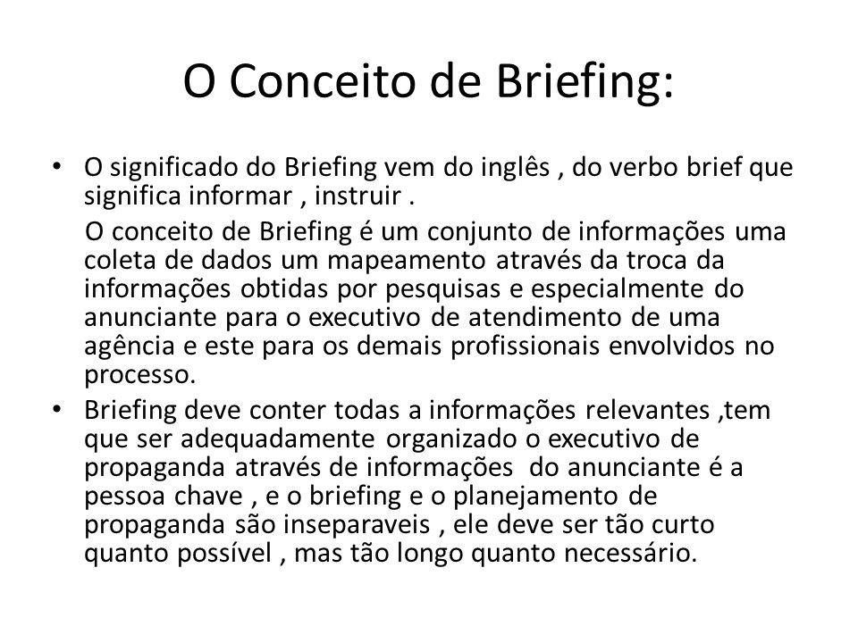 O Conceito de Briefing: