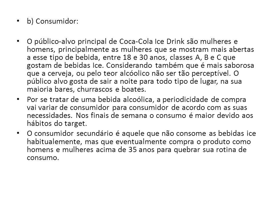 b) Consumidor: