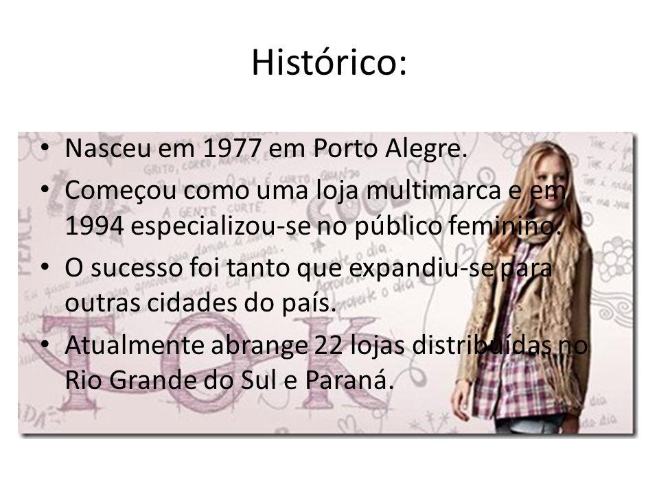 Histórico: Nasceu em 1977 em Porto Alegre.