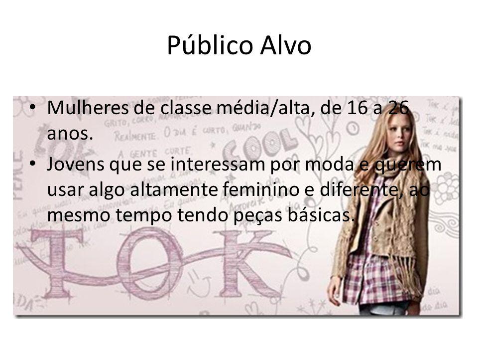 Público Alvo Mulheres de classe média/alta, de 16 a 26 anos.