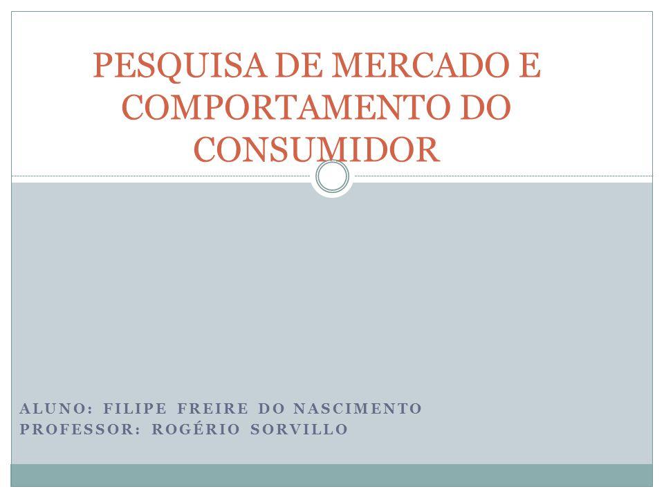 PESQUISA DE MERCADO E COMPORTAMENTO DO CONSUMIDOR