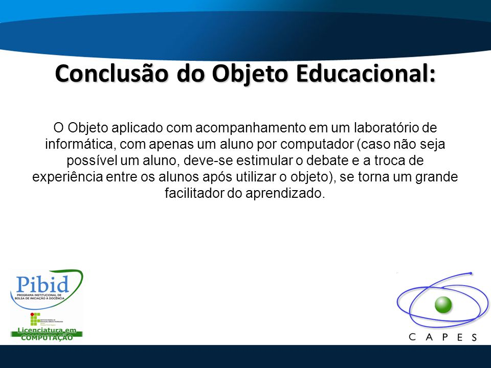 Conclusão do Objeto Educacional: