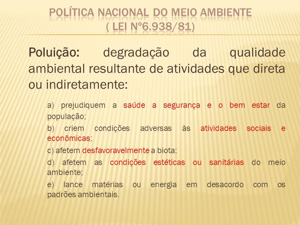 Política Nacional do Meio Ambiente ( Lei nº6.938/81)