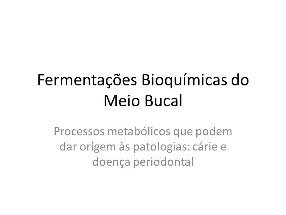 Fermentações Bioquímicas do Meio Bucal