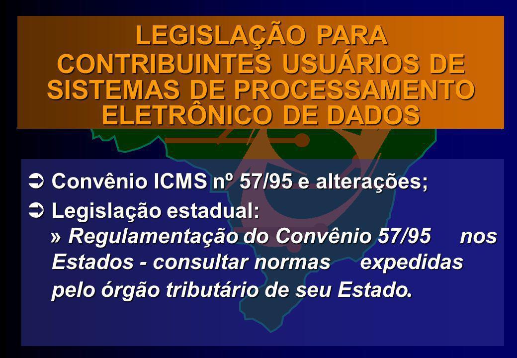 CONTRIBUINTES USUÁRIOS DE SISTEMAS DE PROCESSAMENTO