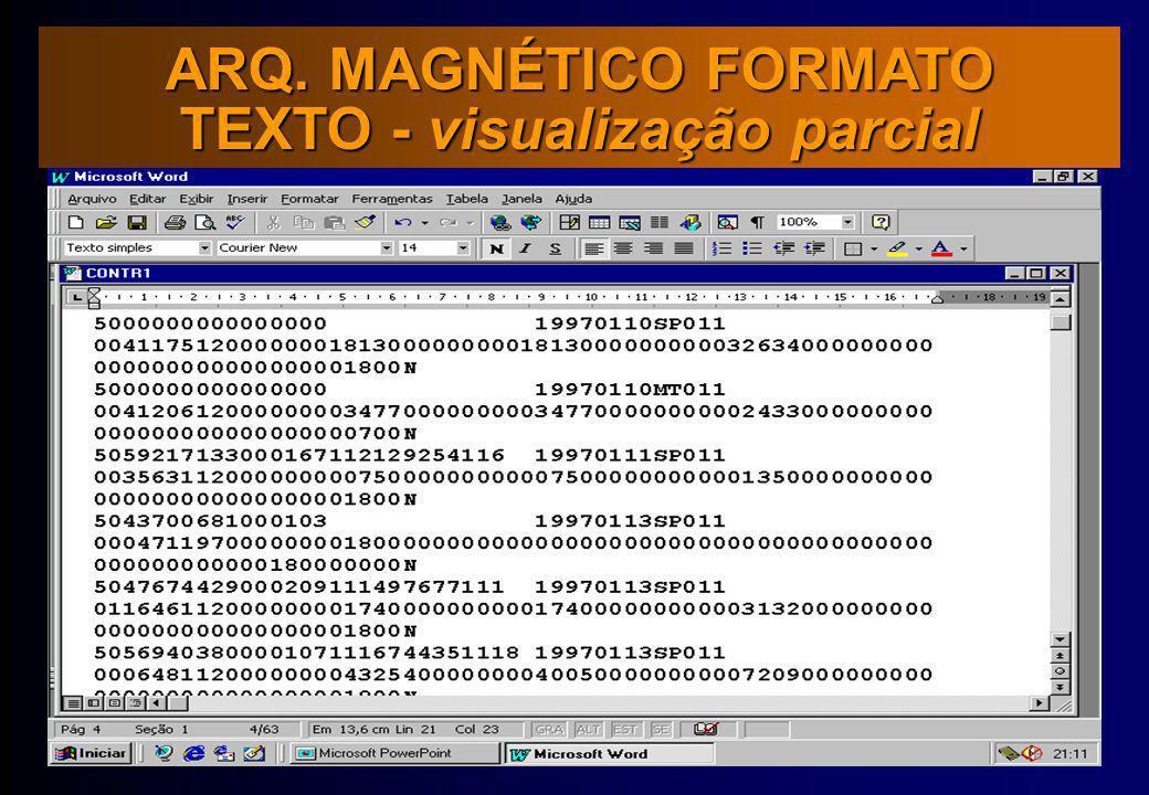 TEXTO - visualização parcial