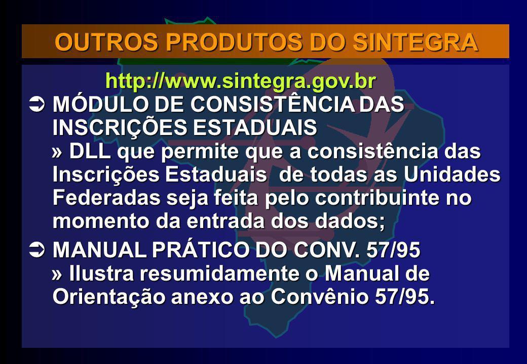 OUTROS PRODUTOS DO SINTEGRA