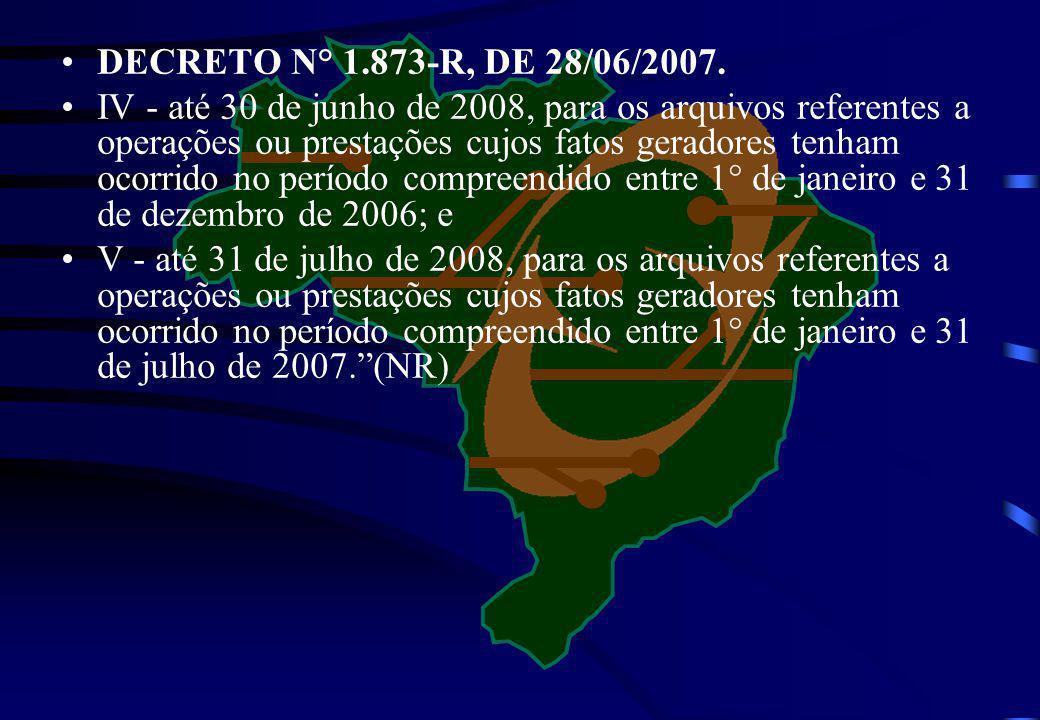 DECRETO N° 1.873-R, DE 28/06/2007.