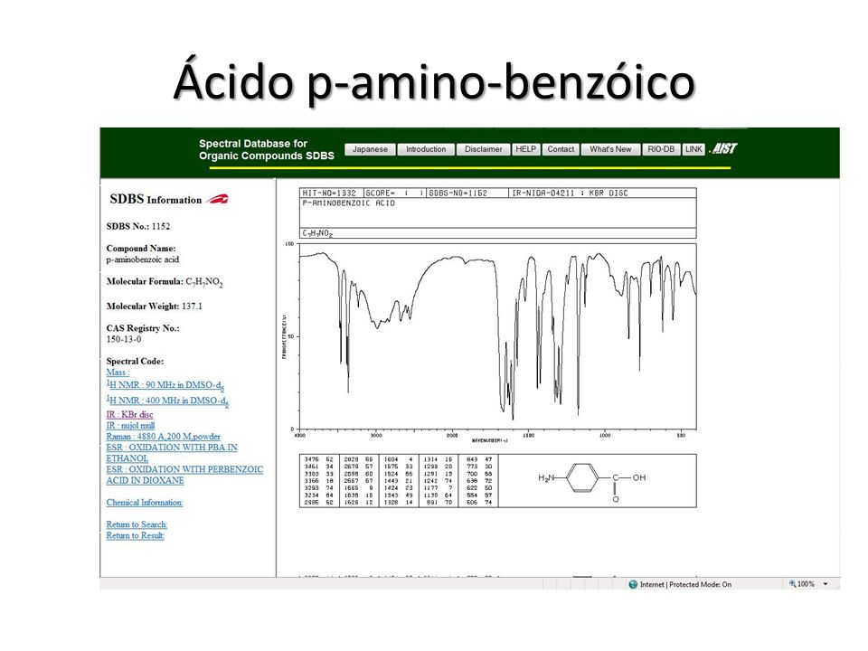 Ácido p-amino-benzóico