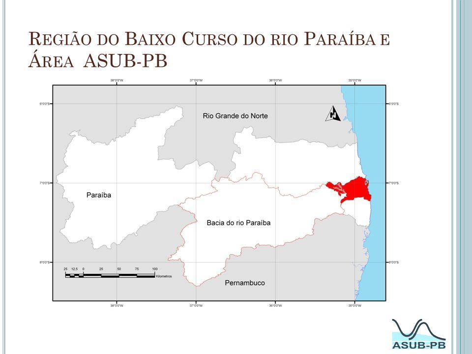 Região do Baixo Curso do rio Paraíba e Área ASUB-PB