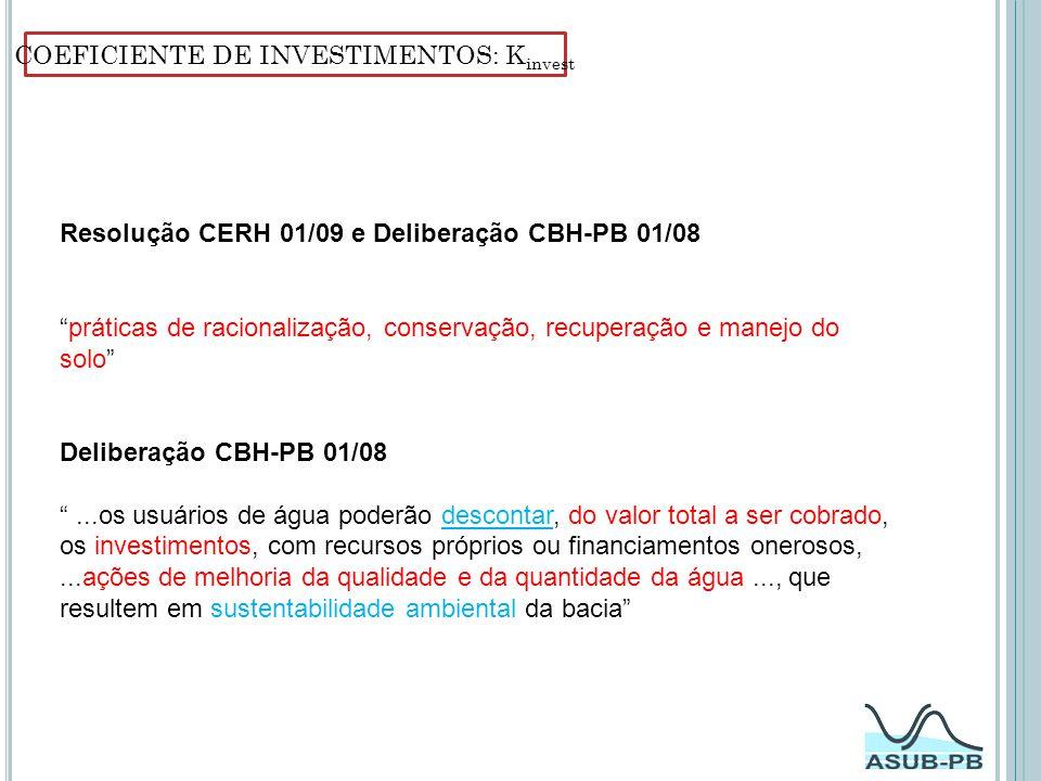 COEFICIENTE DE INVESTIMENTOS: Kinvest