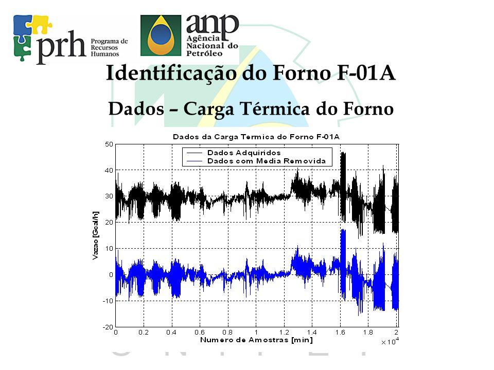 Identificação do Forno F-01A Dados – Carga Térmica do Forno